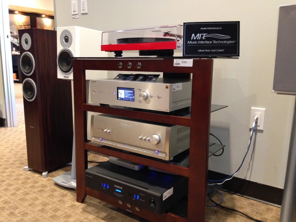 Parasound Halo Integrated Silver and Sony High Res HAPZ1ES at Monaco Audio Video Authorized Dealer for Parasound in Pasadena Los Angeles County